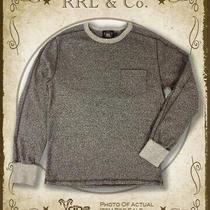 Rrl Ralph Lauren Men's New Heather Brown Cotton Pocket Sweatshirt List345 Photo