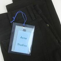 Rrp 264 Acne Studios South Stay Black Women's W30/l32 Bla Konst Jeans 6242mm Photo