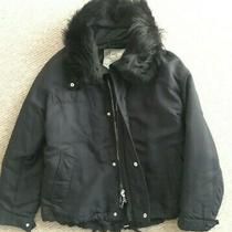 Rrp 825 Euro New Mcq Alexander Mcqueen Shearling-Collar Padded Jacket Size It38  Photo