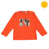 Rrp 105 Armani Baby Size 36m / 3y / 98cm Glued Front Long Sleeve Crew Neck Photo