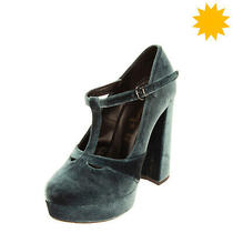 Rrp 105 Jeffrey Campbell Chenille T-Strap Shoes Eu 38 Uk 5.5 Us 8 Made in Italy Photo
