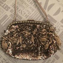 Rrp 1090 Valentino Garavani Beaded Satin Clutch Bag Rhinestones Metal Frame Photo