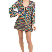 Rrp 1110 Missoni Mare Knitted Beach Dress Size 40 / S Lace Up Made in Italy Photo
