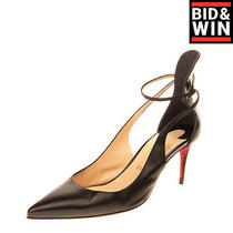 Rrp 1120 Christian Louboutin Leather d'orsay Shoes Eu 40.5 Uk 7.5 Us 10.5 Heel Photo