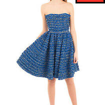 Rrp 1155 Dsquared2 Fit & Flare Dress Size 38 / Xs Plaid Unlined Ruched Bandeau Photo