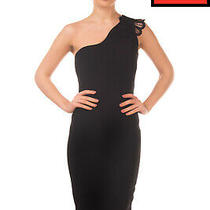 Rrp 1180 Victoria Beckham Wool & Silk Wiggle Dress Size Uk 8 S One Shoulder Photo