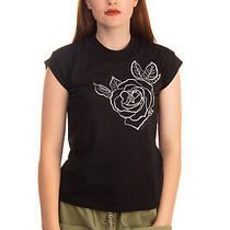 Rrp 120 Armani Jeans T-Shirt Top Size 38 / Xs Printed Flower Made in Portugal Photo