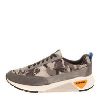 Rrp 120 Diesel S-Kb Low Lace Ii Sneakers Size 42.5 Uk 8.5 Us 9.5 Suede Camo Photo