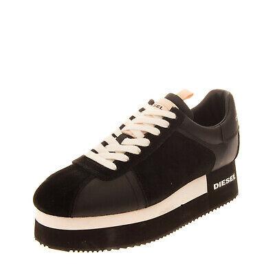 RRP €120 DIESEL S-PYAVE WEDGE Leather Sneakers Size 38 UK 5 US 7.5 Flatform Photo