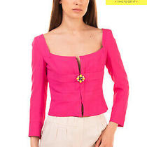 Rrp 1235 Dsquared2 Crepe Blazer Jacket Size 40 / S Embellished Made in Italy Photo