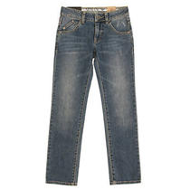 Rrp 125 Armani Jeans Size 8y 130cm Stretch Blue Distressed Faded Effect Zip Fly Photo