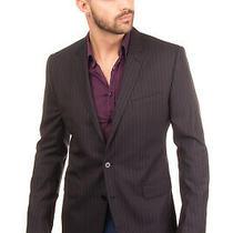 Rrp 1345 Dolce & Gabbana Virgin Wool & Silk Blazer Jacket Size 52 Xl Pinstripe Photo