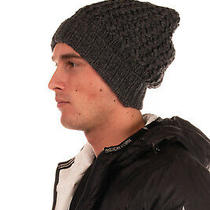 Rrp 135 Dsquared2 Slouchy Beanie Cap Size 1 / S Ribbed Knit Cuff Turn Up Design Photo