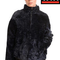 Rrp 1360 Drome Shearling Jacket Size S Full Zip Funnel Neck Made in Italy Photo