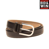 Rrp 140 Armani Collezioni Grainy Leather Belt Size 46/xl 90/36 Made in Italy Photo