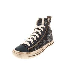 Rrp 140 Diesel Expo-Zip W Denim Sneakers Size 38.5 Uk 5.5 Us 8 Faded Dirty Look Photo