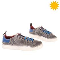 Rrp 140 Diesel S-Clever Low Denim Sneakers Eu 43 Uk 9 Us 10 Worn Dirty Look Photo
