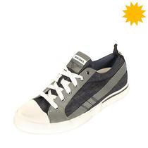 Rrp 150 Diesel D-Velows Low Lace Denim Sneakers Size 43 Uk 9 Us 10 Worn Look Photo