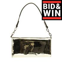 Rrp 155 Calvin Klein Shoulder Clutch Bag Metallic Pu Leather Magnetic Flap Photo