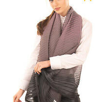 Rrp 155 Emporio Armani Shawl Wrap Scarf Pleated Ombre Effect Made in Italy Photo