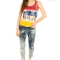 Rrp 160 Dsquared2 Vest Top Size Xs Vintage Look Tie Dye Handcrafted in Italy Photo