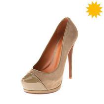 Rrp 160 Schutz Leather Court Shoes Size 36 Uk 3 Us 5 Heel Patent Trim Platform Photo