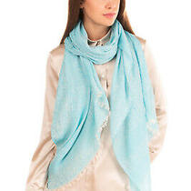 Rrp 165 Armani Collezioni Shawl Wrap Scarf Patterned Frayed Edges Made in Italy Photo