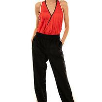 Rrp 165 Emporio Armani Velour Trousers Size 44 / L Side Stripes Zipped Cuffs Photo