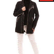 Rrp 1655 Dsquared2 Jacket Size 38 / Xs Wool Blend Leather Trim Made in Italy Photo