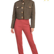 Rrp 1695 Balmain Trousers Size 36 / S Silk Lined Turn Up Cuffs Made in France Photo