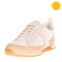 Rrp 170 Calvin Klein Leather & Canvas Sneakers Eu 38 Uk 5 Us 8 Padded Topline Photo