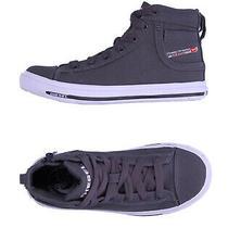 Rrp 180 Diesel Exposure K Canvas Sneakers Eu 34 Uk 2.5 Us 1 Worn Look Logo Photo