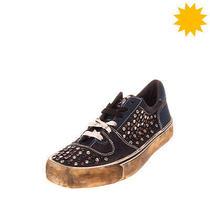 Rrp 180 Diesel  S-Flip Low Denim Sneakers Eu 43 Uk 9 Us 10 Worn & Dirty Look Photo