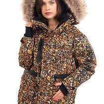 Rrp 1800 Dsquared2 Ski Down Parka Jacket Size 38 / Xs Floral Raccoon Fur Trim Photo