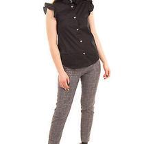 Rrp 195 Love Moschino Shirt Size 40 / S Ruffle Heart Shaped Snap Front  Photo