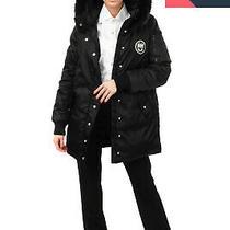 Rrp 2000 Miu Miu Down Parka Jacket Size 38 / Xs-S Raccoon Fur Trim Logo Patch Photo