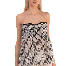 Rrp 205 Proenza Schouler Top Size M Patterned Pleated Bow Detail Bandeau Photo