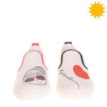 Rrp 210 Armani Junior Slip on Sneakers Eu 40 Uk 6.5 Us 7 Logo Made in Portugal Photo