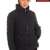 Rrp 210 Dkny Quilted Jacket Size Xl Padded Elastic Back Knitted Cuffs Full Zip Photo