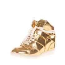 Rrp 210 Michael Michael Kors Sneakers Eu 40 Uk 7 Us 9 Metallic Hidden Wedge Photo