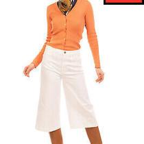 Rrp 230 Frame Denim Capri Trousers Size 26 Stretch White High Waist Made in Usa Photo