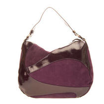 Rrp 235 Vjc Versace Jeans Couture Suede Leather Hobo Bag Zipped Made in Italy Photo
