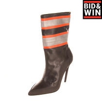 Rrp 240 Diesel D-Slanty Abch Leather Ankle Boots Size 39 Uk 6 Us 8.5 Reflective Photo