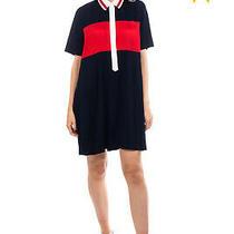 Rrp 245 Tommy Hilfiger Crepe Shirt Dress Size 8 / M Pleated Regular Collar Photo