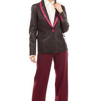 Rrp 255 Emporio Armani Leather Blazer Jacket Size 44 / L Crumpled Two Tone Photo