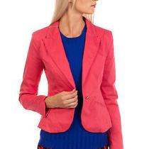 Rrp 285 Armani Jeans Blazer Jacket Size 40 / S Garment Dye Single Breasted Photo