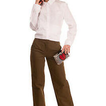 Rrp 285 d&g Dolce & Gabbana Trousers Size 26 Wide Leg Turn Up Cuffs Flat Front Photo