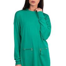 Rrp 295 Dsquared2 Wool Jumper Dress Size Xs Thin Knit Tassel Detail Crew Neck  Photo