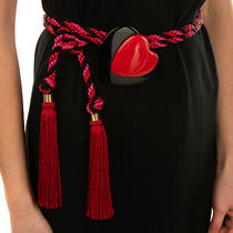 Rrp 295 Philosophy Di Alberta Ferretti Cord Waist Belt One Size Large Heart  Photo
