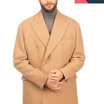 Rrp 3165 Bottega Veneta Camel & Wool Coat Size 52 Xl Double Breasted Peak Lapel Photo